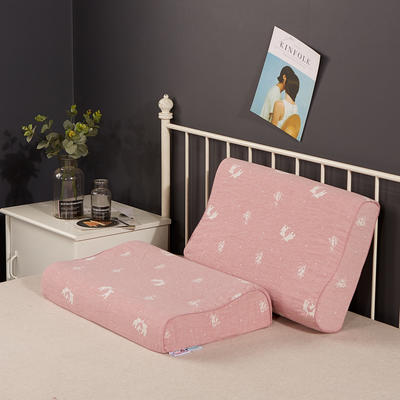 2019新款乳胶枕系列—双层纱乳胶枕(40*60cm) 纯棉粉象(40*60cm)