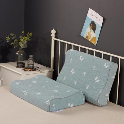 2020新款乳胶枕系列—双层纱乳胶枕(40*60cm) 纯棉蓝象(40*60cm)