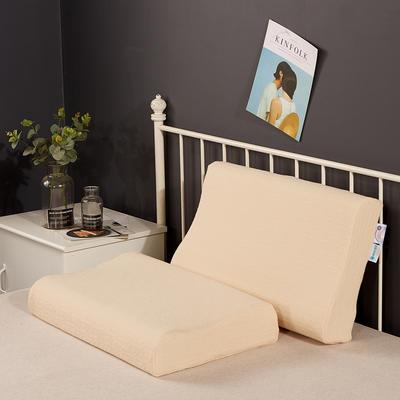 2019新款乳胶枕系列—针织乳胶枕(40*60cm) 针织黄(40*60cm)