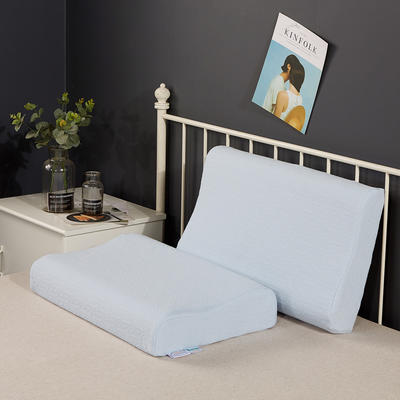 2020新款乳胶枕系列—针织乳胶枕(40*60cm) 针织蓝(40*60cm)