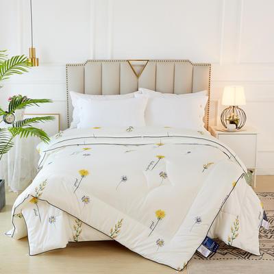 2020新款针织棉子母被被子被芯冬被 子被150x200cm  3.8斤 雏菊 白