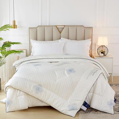 2020新款针织棉子母被被子被芯冬被 子被150x200cm  3.8斤 典雅 白