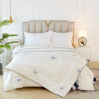 2020新款针织棉子母被被子被芯冬被 子被150x200cm  3.8斤 蝶舞 白