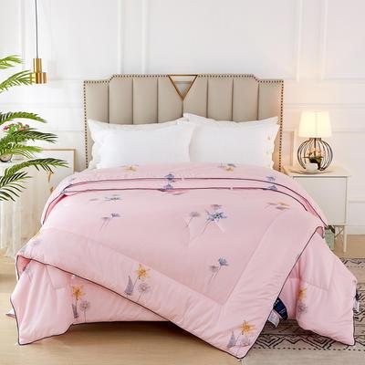 2020新款针织棉子母被被子被芯冬被 子被150x200cm  3.8斤 花香 粉