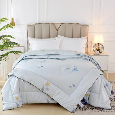 2020新款针织棉子母被被子被芯冬被 子被150x200cm  3.8斤 花香 蓝