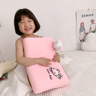 2019新款卡通动物儿童乳胶枕含量95% 粉兔兔50*30*7/9cm