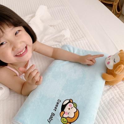 2019新款卡通动物儿童乳胶枕含量95% 蓝猴44*27*5/9cm