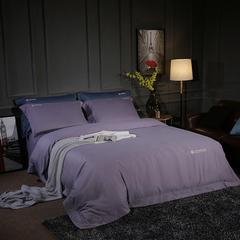 2018新款80磨毛素色四件套 2.0m(6.6英尺)床 夜空紫