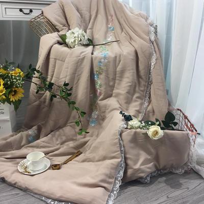 2018新款莫代尔棉麻绣花被 200X230cm 小雏菊(1)