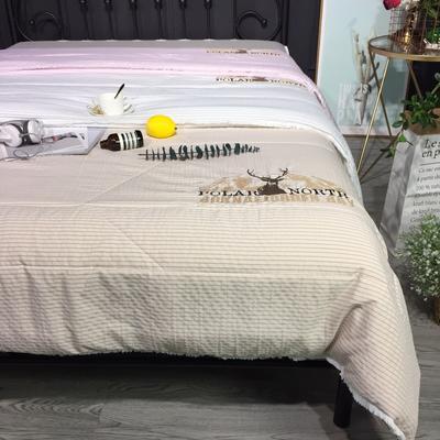 2018新款色织水洗棉绣花夏被 200X230cm 1