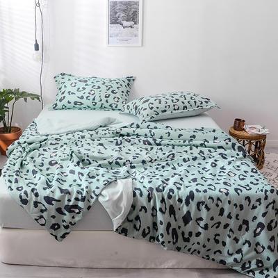 2019春夏最新款豹纹夏被四件套四色 单品夏被,200*230 豹纹-绿
