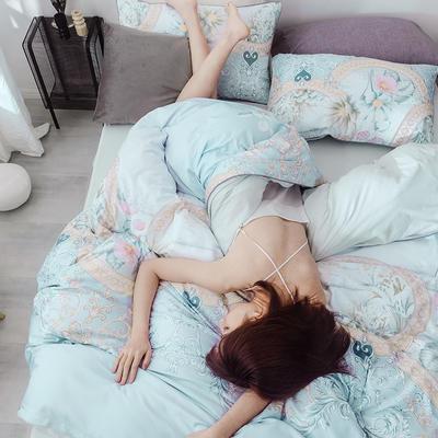 2019新款春夏天丝莫代尔四件套 1.5m床(床单款) 花椴