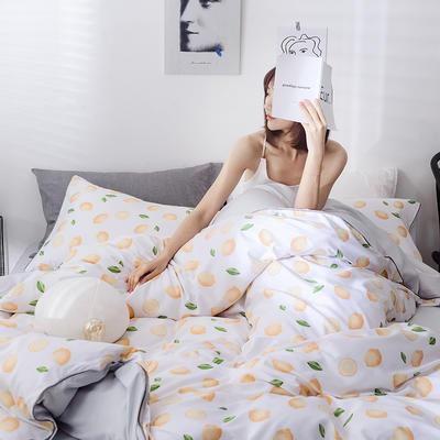 2019新款春夏天丝莫代尔四件套 1.5m床(床单款) 柠檬