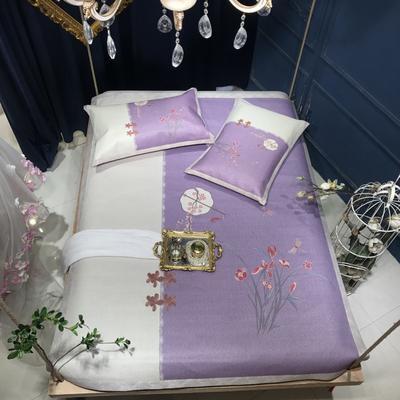 2019新款数码藤席三件套(新中式) 150*200cm 兰之漪漪-粉紫
