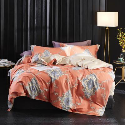 2019新款60长绒棉印花四件套(实拍) 1.8m(6英尺)床单款 佛罗伦萨