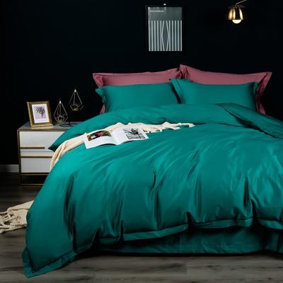 2020新款100支纯色长绒棉四件套 1.5m(5英尺)床单款 莫奈绿