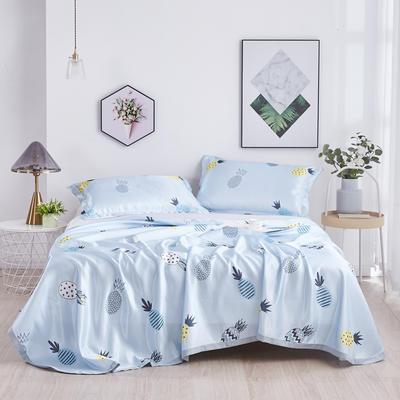 2020新款冰丝席三件套(床单款) 1.5m床单款三件套 菠萝
