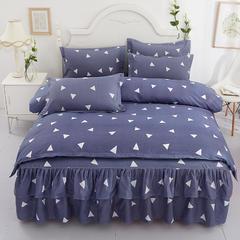 芦荟棉双边床裙四件套 1.2m床裙款四件套 爱巢