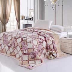 凤凰毛毯  67838 拉舍尔提印花工艺毯 220*240 1
