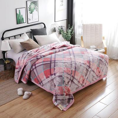 67844 超细柔时尚风情毯 200*230 粉格