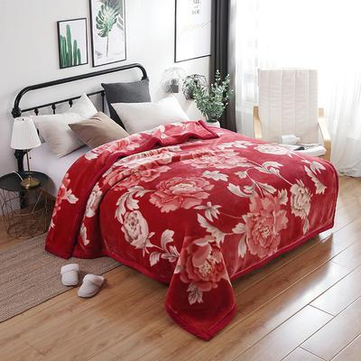 67844 超细柔时尚风情毯 200*230 花蕾