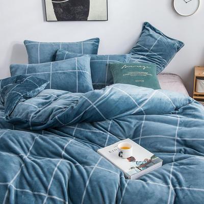 2019新款-无印良品风格牛奶绒四件套 床单款三件套1.2m(4英尺)床 麦格人生-兰
