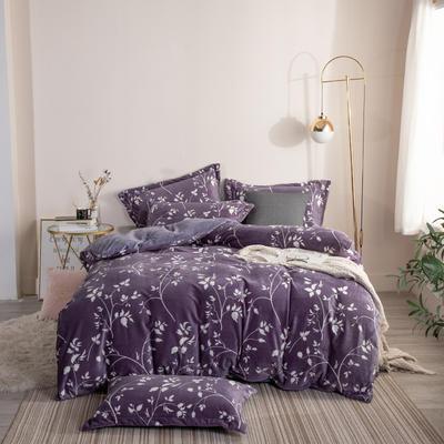2019新款-ins牛奶绒四件套圆角床单款 床单款1.8m(6英尺)床 莱茵河畔-紫