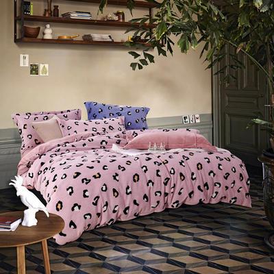 2019新款-ins牛奶绒四件套圆角床单款 床单款1.5m(5英尺)床 乐享生活-粉