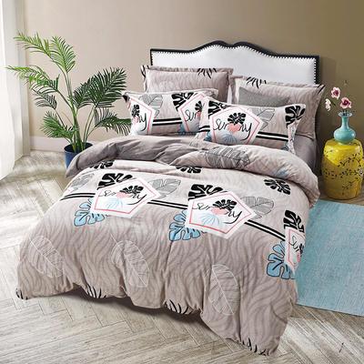 2019新款-ins牛奶绒四件套圆角床单款 床单款1.8m(6英尺)床 林间风声--灰