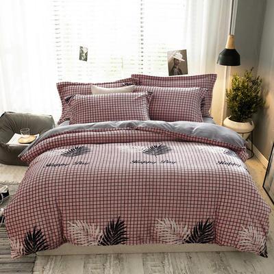 2019新款-ins牛奶绒四件套圆角床单款 床单款1.8m(6英尺)床 时尚风-粉
