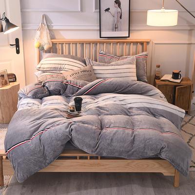 2019新款-无印良品风格牛奶绒四件套 床单款四件套1.5m(5英尺)床 极简主义