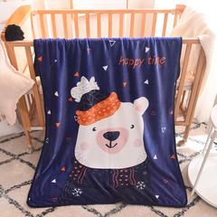 2018新款单层童毯 100*140cm 帽子熊