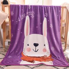 2018新款单层童毯 100*140cm 长耳兔