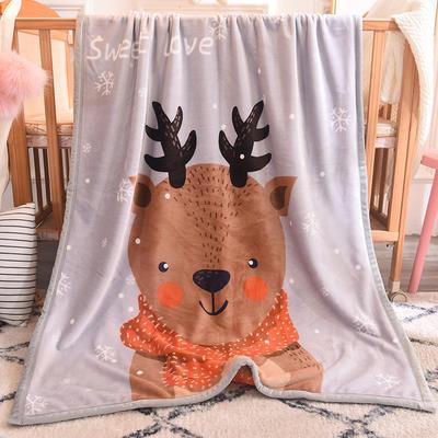 2018新款双层童毯 100*140cm 小鹿