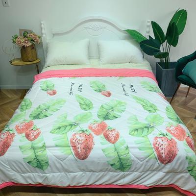 2019新款小清新水洗棉夏被 200X230cm 草莓