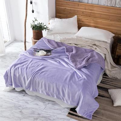 2019新款纯色羊羔绒毛毯(21色) 200cmx230cm 安娜紫