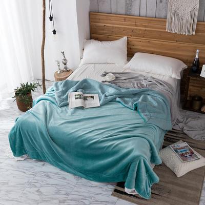 2019新款纯色羊羔绒毛毯(21色) 200cmx230cm 薄荷兰