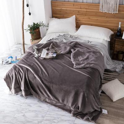 2019新款纯色羊羔绒毛毯(21色) 200cmx230cm 爵士灰