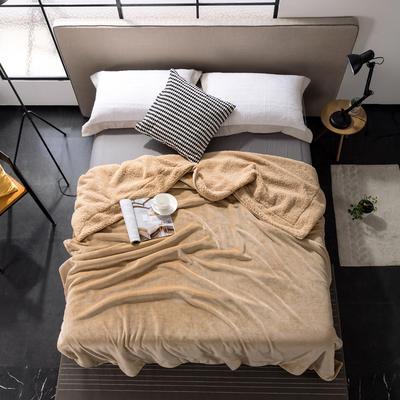 2019新款纯色羊羔绒毛毯(21色) 200cmx230cm 卡其色