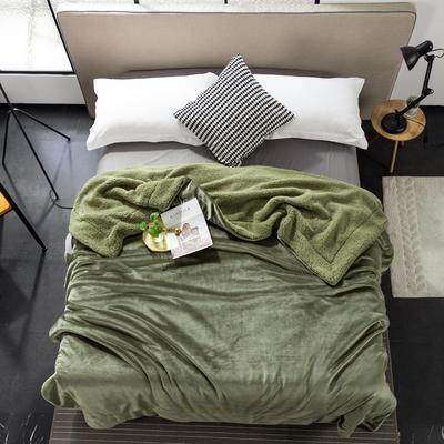 2019新款纯色羊羔绒毛毯(21色) 200cmx230cm 玛瑙绿