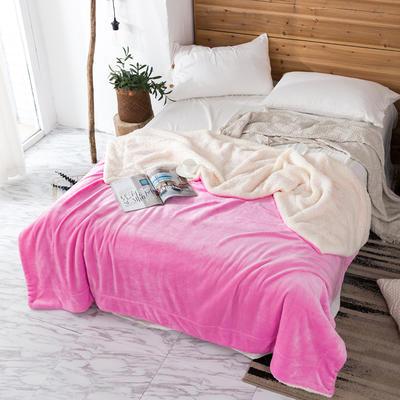 2019新款纯色羊羔绒毛毯(21色) 200cmx230cm 梦幻粉