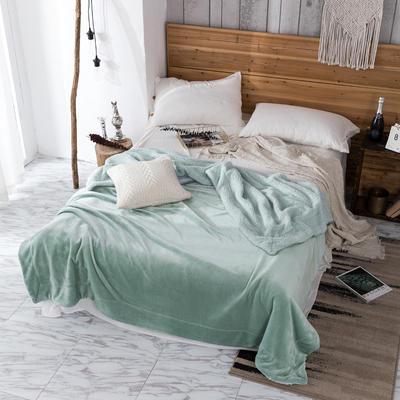 2019新款纯色羊羔绒毛毯(21色) 200cmx230cm 抹茶绿