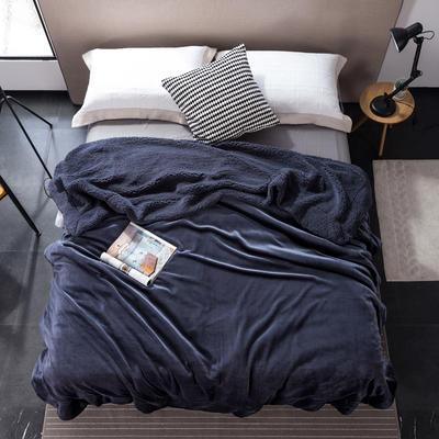 2019新款纯色羊羔绒毛毯(21色) 200cmx230cm 深空灰