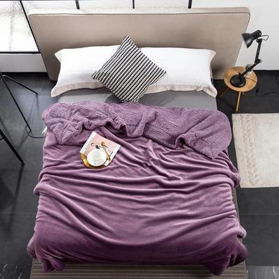 2019新款纯色羊羔绒毛毯(21色) 200cmx230cm 紫罗兰