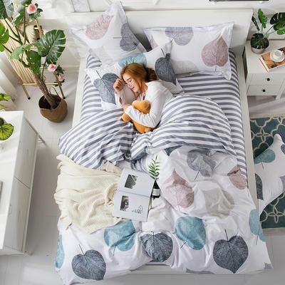 2018新款13372全棉四件套-终版 1.8m(6英尺)床 慕槿