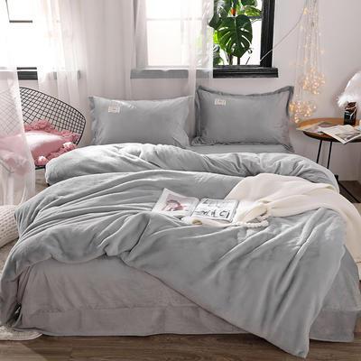2018新款兔兔绒保暖四件套-床单款 1.5m/1.8m 灰
