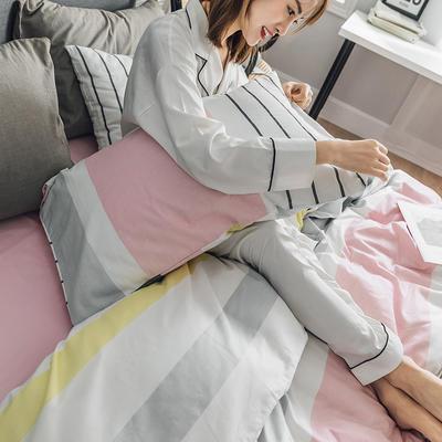 2019新款全棉北欧轻奢系列四件套 1.2m床单款三件套 格蕾丝