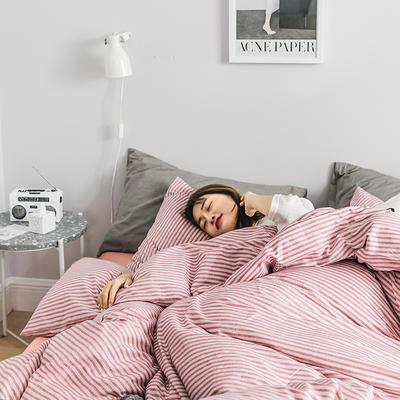 2019新款全棉北欧轻奢系列四件套 1.2m床单款三件套 亲密爱人