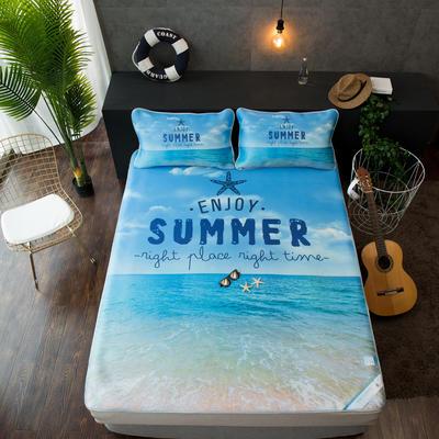 2018新款酷赛尔冰感凉席大版花色 150*200cm 夏威夷沙滩