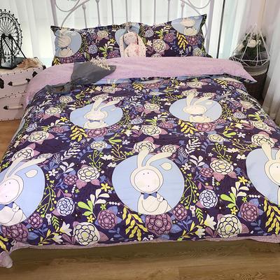 2018新款全棉13372四件套 1.5m(5英尺)床 安东尼紫